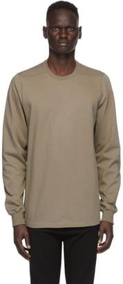 Rick Owens Beige Cotton Jersey Sweatshirt