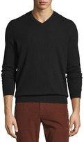 Vince Cashmere Long-Sleeve V-Neck Sweater, Black
