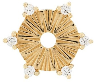 Foundrae 18kt yellow gold Element small diamond disk