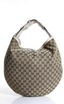 Gucci Beige Canvas Tote Handbag Size Large