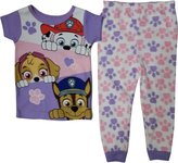 Nickelodeon Paw Patrol Little Girls Toddler Short Sleeve Cotton Pajama Set (T)