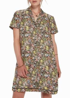 Scotch & Soda Tropical Print Shirt Dress & Necklace