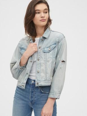 Gap Oversize Cropped Denim Jacket