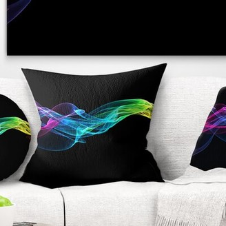 "East Urban Home Abstract Ribbon Waves Pillow Size: 16"" x 16"", Product Type: Throw Pillow"