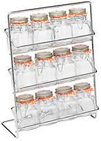 Hahn 12 Jar Spice Rack With Kilner Jars