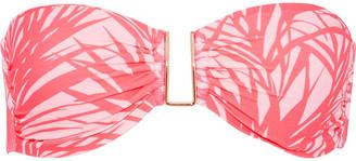 Melissa Odabash Barcelona Ruched Printed Bandeau Bikini Top