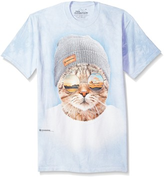 The Mountain Cool Hipster Cat Adult T-Shirt
