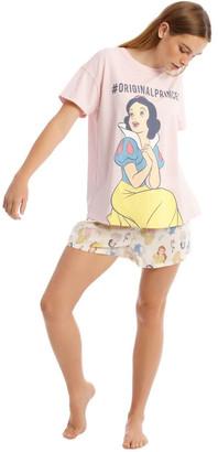 Disney Princesses Short-Sleeve Top with Short Pyjamas Baby