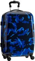 Pottery Barn Teen Hard-Sided Checked Spinner, Blue Camo