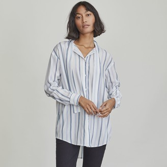 Elizabeth and James Women's Tie-Neck Button-Down Shirt
