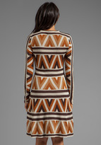BCBGMAXAZRIA Long Sleeve Printed Dress