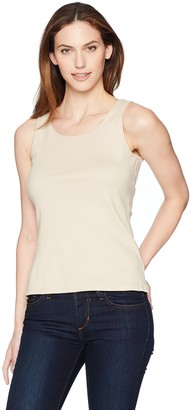 Ruby Rd. Women's 1x1 Rib Scoop-Neck Sleeveless Tank