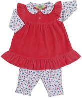 Kissy Kissy QT Cherry Blossom Dress w/ Legging (Baby)-Fuchsia-12-18 Months
