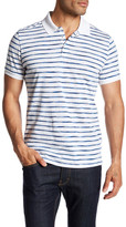 Peter Werth Marble Striped Polo Shirt