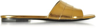 Jil Sander Laminated Leather Flat Slide