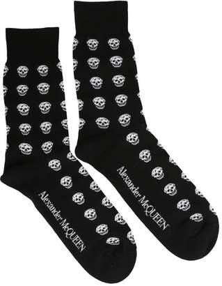 Alexander McQueen Short Skull Sport Socks