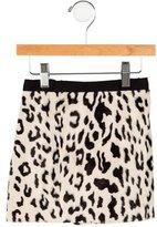 Milly Minis Leopard Print Skirt