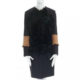 Preen Black Fur Coats