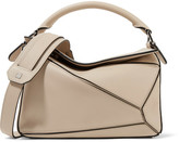 Loewe Puzzle Small Leather Shoulder Bag - Beige