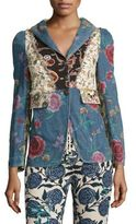 Roberto Cavalli Denim Patchwork Jacket