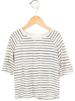 Marie Chantal Girls' Striped Short Sleeve Top