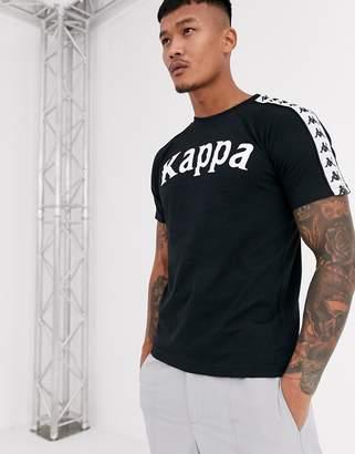 Kappa Balima logo t-shirt in black