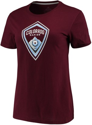 adidas Women's Maroon Colorado Rapids Performance Primary Logo T-Shirt
