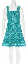 Oscar de la Renta Abstract Print Silk Dress