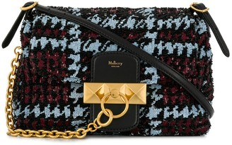 Mulberry Mini Keeley Houndstooth Sequins bag