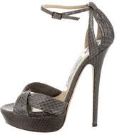 Jimmy Choo Snakeskin Platform Sandals