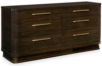 Caracole Modern Streamline Art Deco Six Drawer Dresser