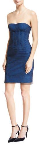 Diane von Furstenberg Sweetheart-Neck Strapless Corset Cocktail Dress