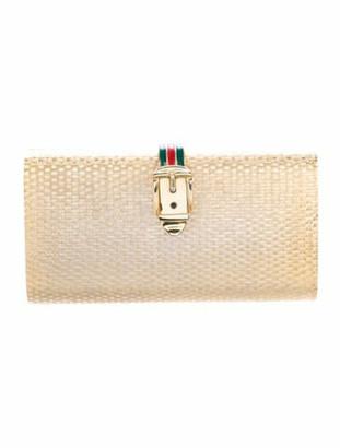 Gucci Vintage Box Clutch Metallic