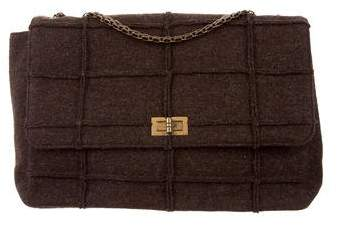 Chanel Felted Wool Jumbo Flap Bag