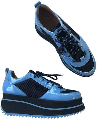 Ganni Blue Leather Trainers