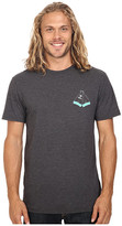 VISSLA Dafin Double Fin Washed Heather 30 Singles Short Sleeve Tee