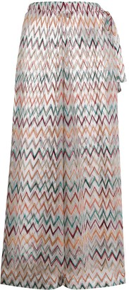 Missoni Mare Embroidered Zig-Zag Trousers