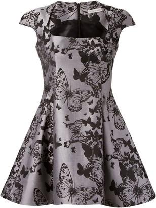 Martha Medeiros Flared Jacquard Dress