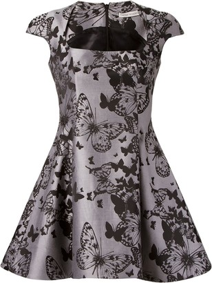 Martha Medeiros Flared Jacquard Dress