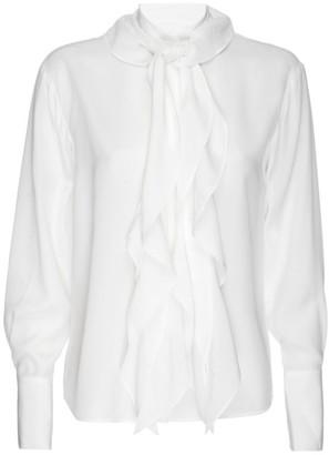 Frame Marguerite Tie Silk Blouse