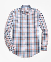 Brooks Brothers Non-Iron Regent Fit Heathered Multi-Gingham Sport Shirt