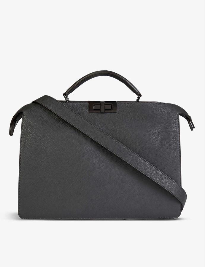 Fendi Peekaboo ISeeU medium leather top-handle briefcase