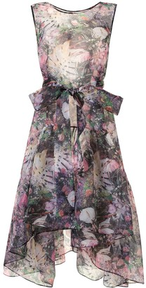 Romance Was Born Montmartre Flowers asymmetric dress
