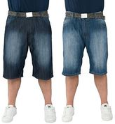"Loyalty And Faith Mens Plus King Size Denim Belted Shorts Branded Bottoms 42""-54"""