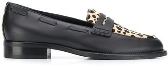 Giuseppe Zanotti Leopard Print Loafers