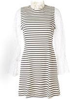 Sea striped flared dress