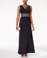 Alex Evenings Embellished Surplice Gown