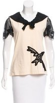 Anna Sui Casual Short Sleeve Top