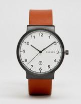 Skagen Ancher Tan Leather Watch Skw6297