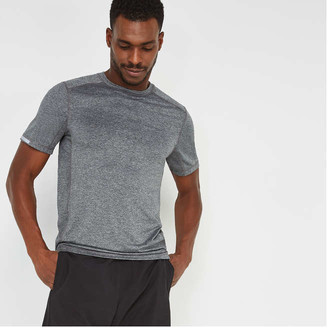 Joe Fresh Men's Mesh Active Tee, Charcoal Mix (Size XS)
